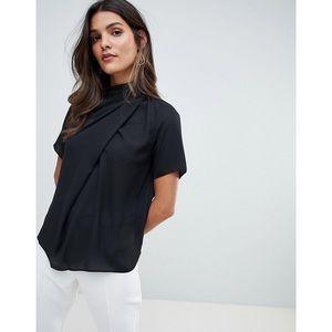 ASOS DESIGN high neck blouse with drape detail
